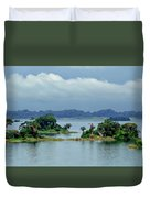 Gatun Lake Islands Duvet Cover