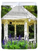 Gazebo In A Beautiful Public Garden Park 3 Duvet Cover