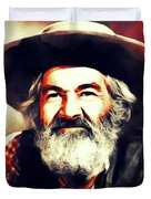 George Gabby Hayes, Vintage Actor Duvet Cover