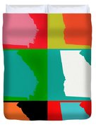 Georgia Pop Art Duvet Cover