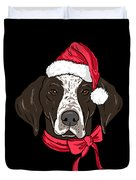 German Shorthair Xmas Hat Dog Lover Christmas Duvet Cover