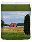 Red Barn On Sherfy Farm Gettysburg Duvet Cover