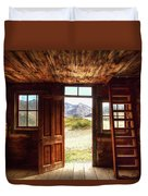 Ghost Town Cabin Duvet Cover