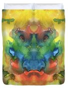 Ghost - Watercolor Painting On Paper Duvet Cover