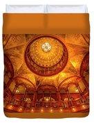 Gilded Age, Flagler College Rotunda, Saint Augustine, Florida Duvet Cover