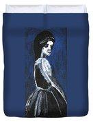 Girl In A Dress Duvet Cover