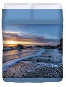 Glass Beach Sunset Duvet Cover