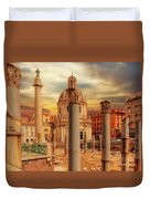 Glories Past And Present,  Rome Duvet Cover