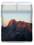 Glowing Mountains Duvet Cover