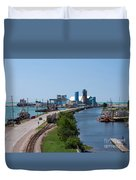 Goderich Harbour And Maitland Valley Marina Duvet Cover
