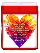 God's Heart Duvet Cover
