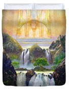 God's Holy Hill Duvet Cover