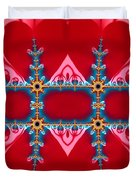 Gods Love And Mercy Is Infinite Fractal Abstract Hearts Duvet Cover by Rose Santuci-Sofranko