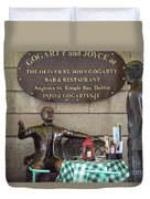 Gogarty And Joyce Statues One Duvet Cover