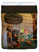 Gogarty And Joyce Statues Two Duvet Cover