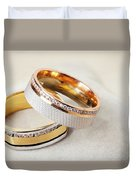 Gold Wedding Ring  Duvet Cover