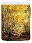 Golden Autumn Light Duvet Cover