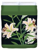 Golden-banded Lily - Digital Remastered Edition Duvet Cover
