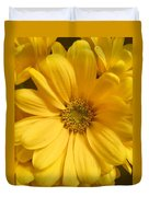 Golden Daisy Duvet Cover