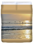 Golden Daybreak Duvet Cover