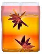 Golden Duo Water Lilies Duvet Cover