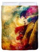 Golden Gloom Duvet Cover