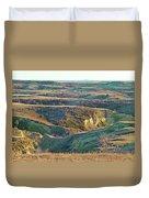 Golden Grasslands Enchantment Duvet Cover