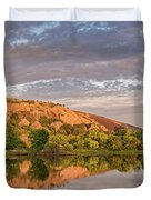 Golden Hour Contemplation At Moss Lake - Enchanted Rock Fredericksburg Texas Hill Country Duvet Cover