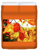 Golden Leaf Duvet Cover