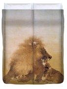 Golden Lion - Original Color Edition Duvet Cover
