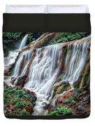 Golden Waterfall Duvet Cover