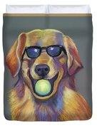 Golden With Ball Duvet Cover