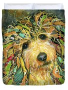 Goldendoodle Duvet Cover by Patricia Lintner