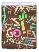 Golfing Print Press Duvet Cover