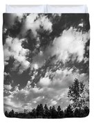 Good Harbor Shoreline Black And White Duvet Cover