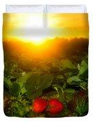 Good Morning Strawberries Duvet Cover