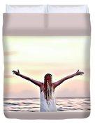 Good Morning World Duvet Cover