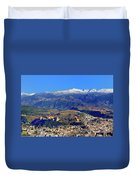 Granada, The Alhambra And Sierra Nevada From The Air Duvet Cover
