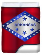 Grand Piano Arkansas Flag Duvet Cover