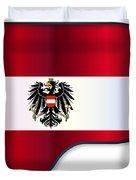 Grand Piano Austrian Flag Duvet Cover