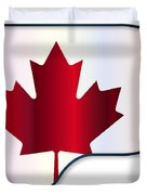 Grand Piano Canadian Flag Duvet Cover
