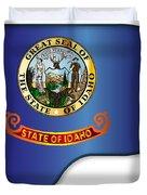 Grand Piano Idaho Flag Duvet Cover