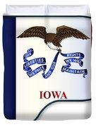 Grand Piano Iowa Flag Duvet Cover