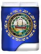 Grand Piano New Hampshire Flag Duvet Cover