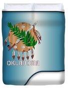 Grand Piano Oklahoma Flag Duvet Cover