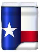Grand Piano Texas Flag Duvet Cover