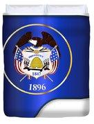 Grand Piano Utah Flag Duvet Cover