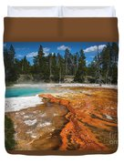 Grand Prismatic Spring Duvet Cover by Mae Wertz