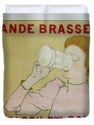 Grande Brasserie, 1894 Belgian Vintage Brewery Poster Duvet Cover