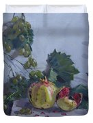 Grapes And Pomegranates Duvet Cover